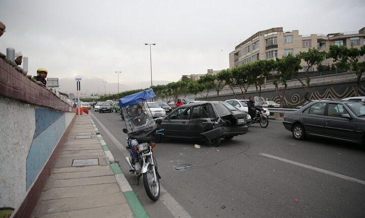 کاهش ۲۳ درصدی تصادفات رانندگی